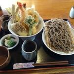 隠れ庵 - 料理写真:天丼定食 冷たいそば