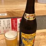 京町スタンド 若旦那 - ドリンク写真:プレミアムモルツ中瓶350円