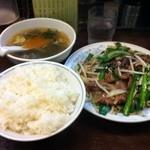 Toyosuramen - 120510 ニラレバ定食