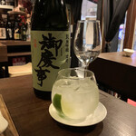ベジバル Itaru 池袋 ~Vegetable Bar & Organic~ - サムライ・ロック(800円) 使われる日本酒はその日によって違うそう