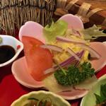 風和里 - サラダは紫玉ねぎとポテサラが美味い!カレー味いれんなゃ!