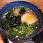 風和里 - 煮麺はちょいと柚子風味。ボリューム満点。
