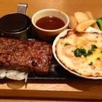 ココス - ココスビーフハンバーグステーキ&海老グラタン  ¥924