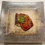 鮨と一品 いちかわ - 鰻の炭火焼き