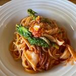 146399900 - イカとトマトのスパゲティ