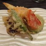 ひら井 - 3品2000円 夏野菜天ぷら
