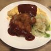 洋食屋 - 料理写真:サービスランチ(とんかつ&オムライス)1000円