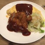 洋食屋 - サービスランチ(とんかつ&オムライス)1000円