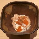 146407720 - 余市のあん肝とあんぽ柿、胡麻味噌