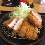 かつ壱番屋 - 日替り定食(ロースカツ&メンチカツ)1,080円。