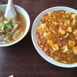 天龍 - 麻婆飯とミニラーメン