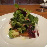 14643709 - 鮭の瞬間スモークと野菜