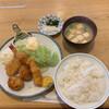 天八 - 料理写真:ミックスフライ定食 1,200円