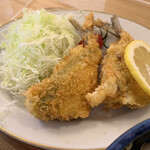 味の店 かくた - 料理写真:あじ納豆フライ