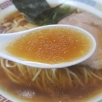146438195 - 濃口煮干鰮らーめんのスープ