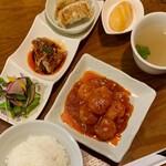 青山麺飯坊 - ランチセット えびチリ