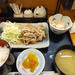 酔心酒蔵 - 生姜焼き定食