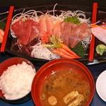 海の家 - 舟盛り定食  ¥1000