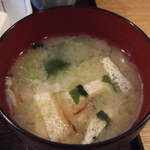 酒房長谷川 - 味噌汁