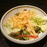 くいもの屋 わん - お通し サラダ (3人前) 429円 (×3)