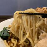 146456464 - 赤 大ラーメン(汁なし)  野菜チョイマシ