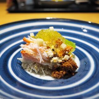 おたぎ - 料理写真:こっぺ蟹に白菜のにこごりをたっぷり乗せて。
