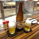 お好み焼 きじ - 【2012.9月】キリンラガービール 大瓶(630円)