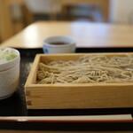 中村麺兵衛 - 料理写真:十割もりそば大盛り(¥670税込み)