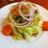 Cafe Salon de The OKA - 料理写真:ランチセットのサラダ(人参ゼリー付き)