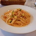 14649960 - ・スパゲッティーニ ズワイガニとズッキーニのトマトクリームソース