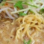 中華厨房 友 - 担々麺(800円)。麺をズーム。