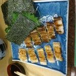 大天寿司 - 焼き穴子と蒸し穴子