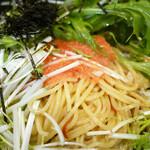 146502587 - 博多かねふく明太子と水菜のペペロンチーノ ¥900