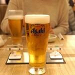 とん久 - 生ビール