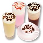 めいどりーみん - お絵かきドリンク(いちごミルク、ミルクここあ、ぴーちティー、カプチーノ)