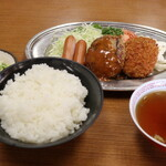 有賀ドライブイン - 料理写真:ミックスフライA