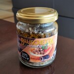 カルディコーヒーファーム - ブルスケッタ(黒オリーブのざく切り)。これ、パスタとかにも使えるかも。