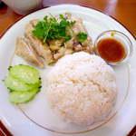 14652452 - 【ランチ】カオマンガイ・タイ風チキンライス(¥920)