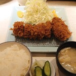 Ponchiken - 特ヒレ豚かつ定食・メンチカツ追加