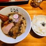 大阪らーめん 秀吉 - 令和3年2月 太閤ブラック 750円 ランチタイム白飯 50円