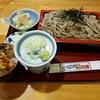 ますも庵 - 料理写真:ざるそばセット(ミニ穴子天丼)