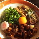 あぶさん - 煮干ルーロー花椒油そば850円