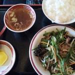 14653748 - ニラレバ炒め定食