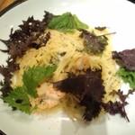 14653807 - 岩戸さんの2色のしそと小海老スパゲティ