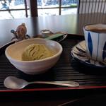 赤沢宿 宿の駅 清水屋 - 料理写真:雨畑茶アイス&コーヒー~☆