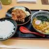登竜 - 料理写真:山賊揚げ定食!以前高崎の山賊に敗北!今回の3人組も鉄鍋を交えて強敵!