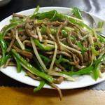 京華苑 - 牛肉の青椒肉絲(1,500円)