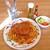 サントス珈琲店 - 料理写真:ハンバーグスパゲッティ(大盛り)& ミニサラダ