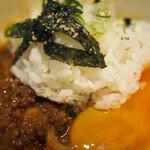 串膳 - 汁なし坦々麺追い飯セット