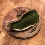 味酒 かむなび - 倉橋島半田さんの牡蠣 徳島小松菜と豆腐のピューレ オガクロの蓮根